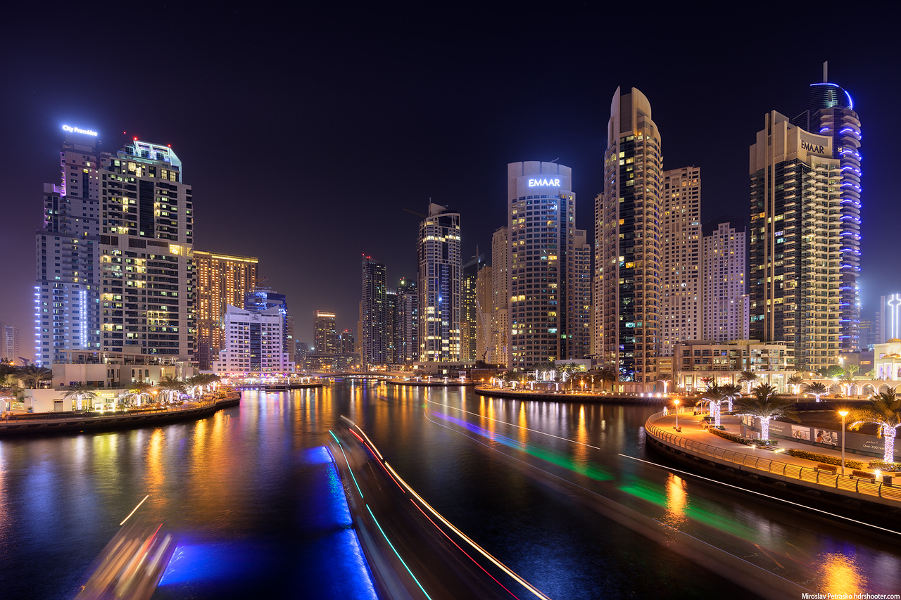 Dubai marina nights