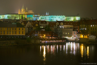 Late night view from the Charles bridge