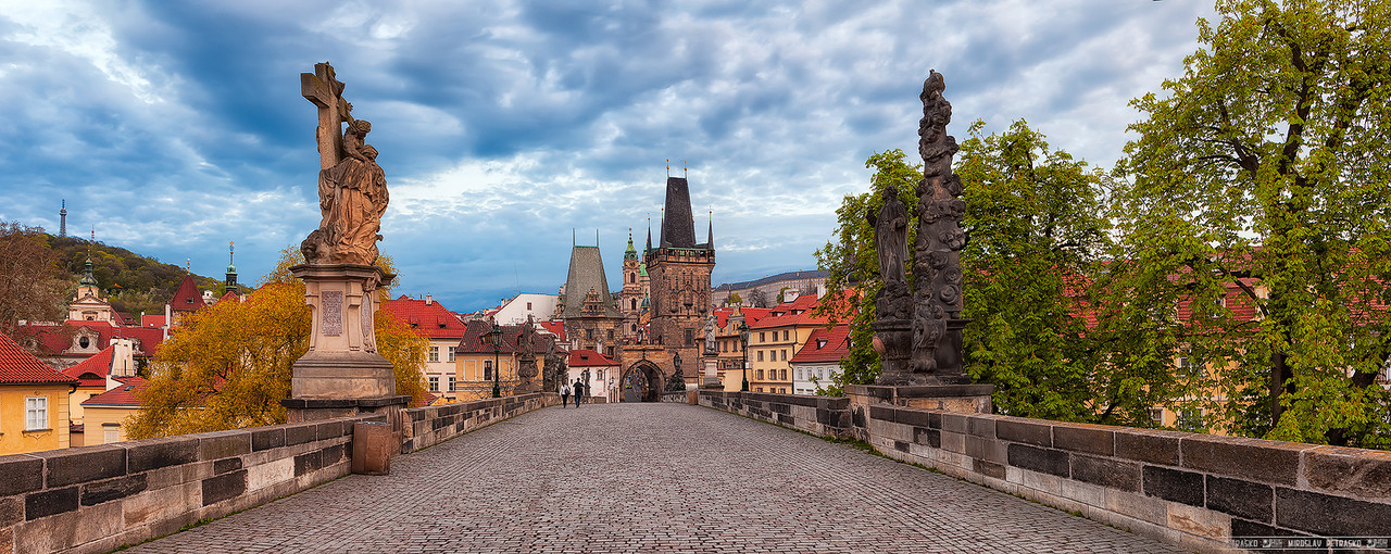 Cloudy sky over the Charles Bridge