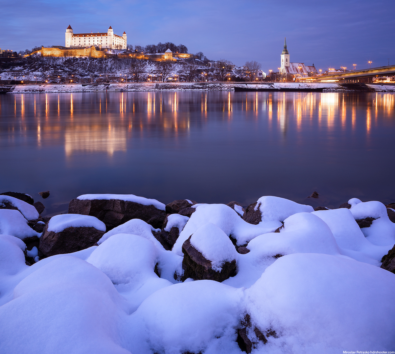 Snow covered, Bratislava, Slovakia