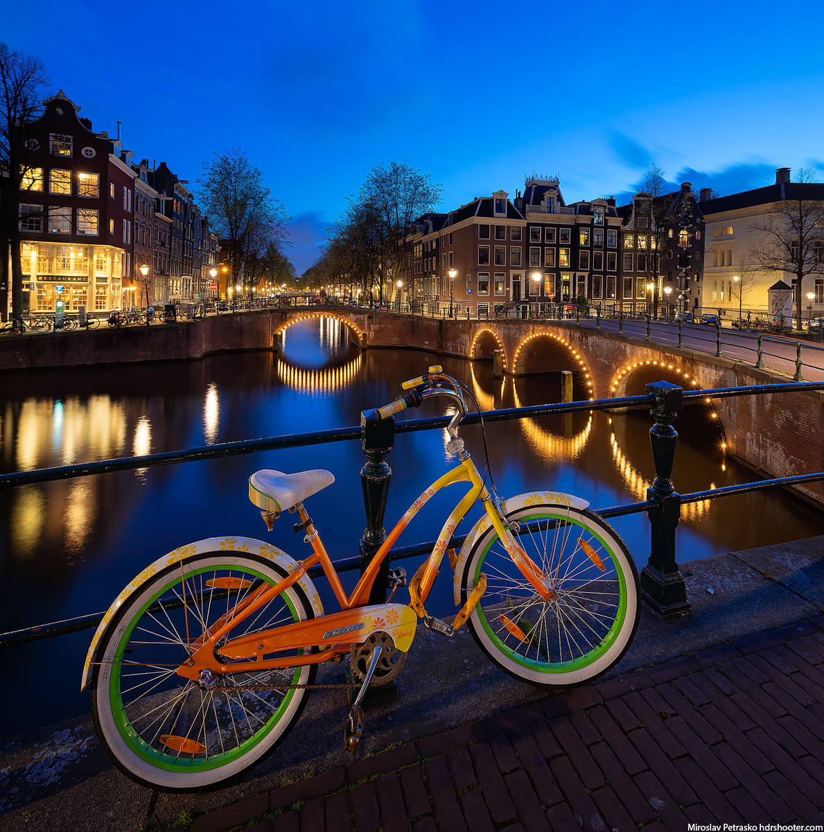 Colorful bicycle in Amsterdam, Netherlands