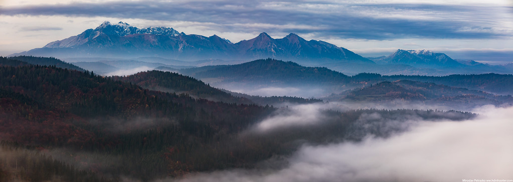Mountains in the morning, Lesnica, Slovakia, High Tatras