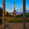 Framed by pillars