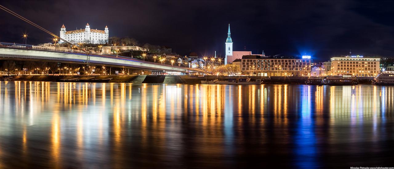 Night in the city, Bratislava, Slovakia