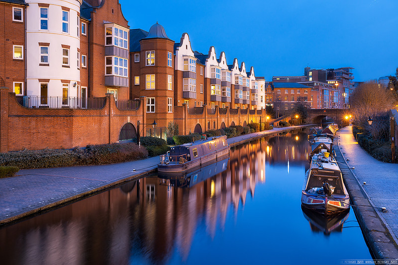 Blue hour at the canal