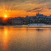 Sun in Prague<br /> <br /> Of course when I was in Prague I had to take few sunset shots :) The sunset wasn't exactly how I wanted. It somehow lacked those beautiful sunset colors, but I still tried my best :)<br /> <br /> HDR from three shots, taken with Canon 450D with Sigma 18-200 mm lens, from a tripod.