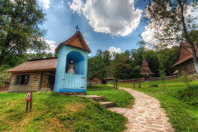 Open-Air Museum of folk architecture I went with a very old photo today, over two years. It's from the Open-Air Museum of folk architecture in Bardejovske Kupele in eastern Slovakia. There are many of them in Slovakia and also a huge number of wooden churches scattered around the country. I think it would make for a great photo series.