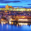 <h2> Colorful Prague</h2> A nice colorful view of the Prague castle today.