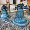 Bells in Bardejov<br /> <br /> It's not often you can see church bell so up close, but in Bardejov, you can see two right in front of the church. They both have such a great detail on them, ideal for HDR :)<br /> <br /> HDR from three shots, taken with Canon 450D with Sigma 10-20mm lens, from a tripod.