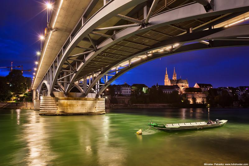 Under the bridge in Basel