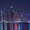 Dubai marina skyscrapers