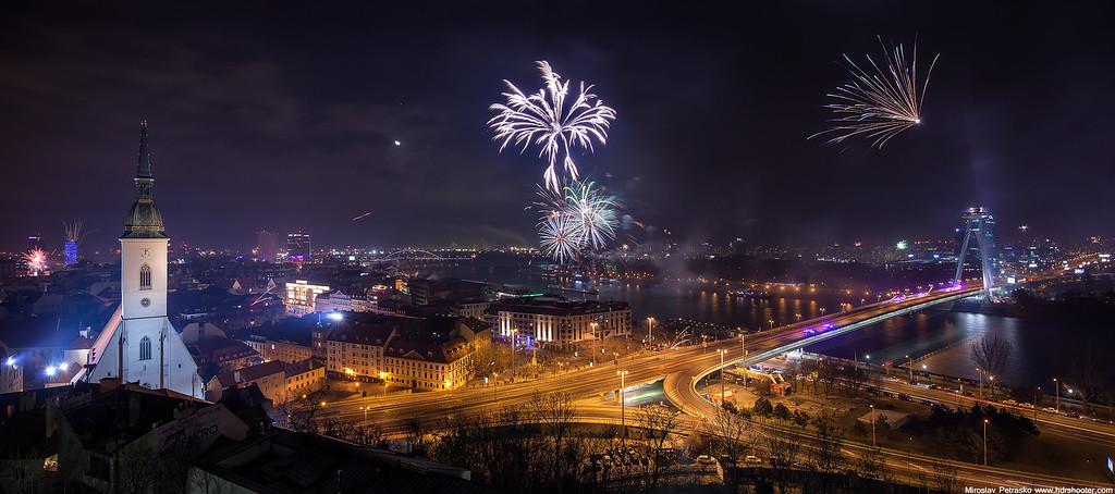 Fireworks Panorama