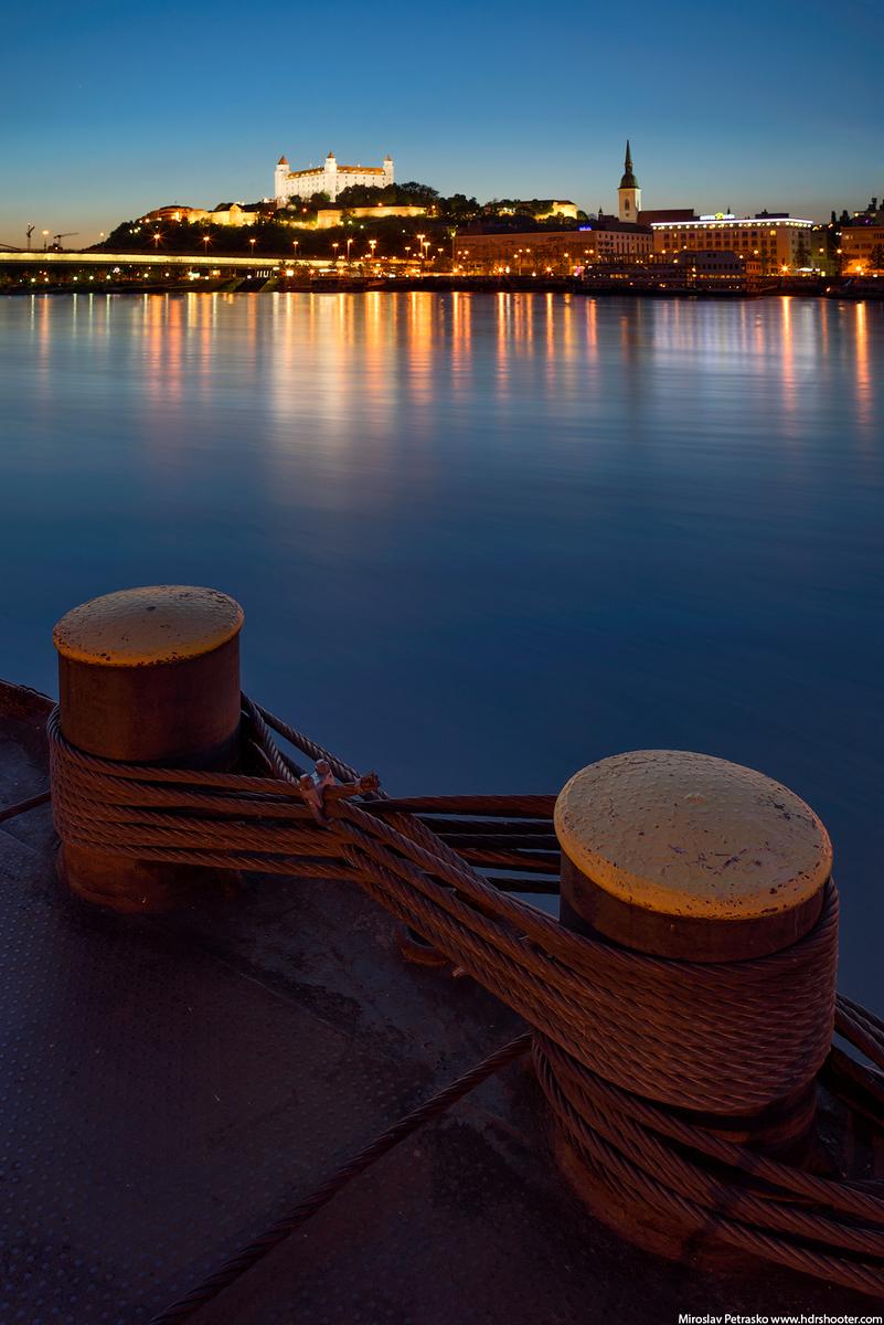 The Danube view in Bratislava, Slovakia