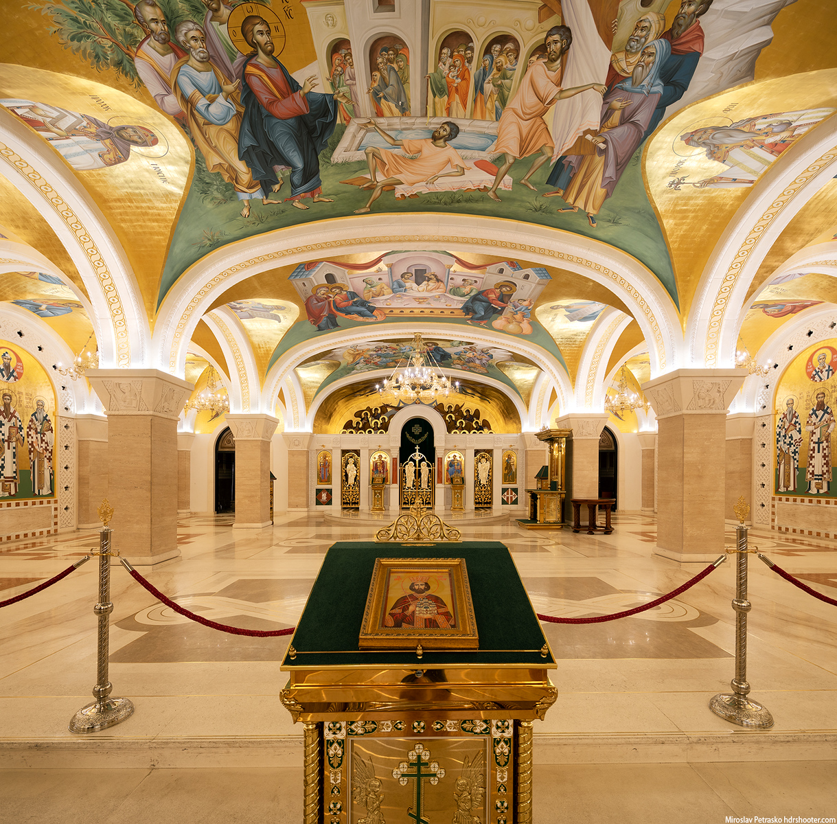 Crypt of the Saint Sava church in Belgrade