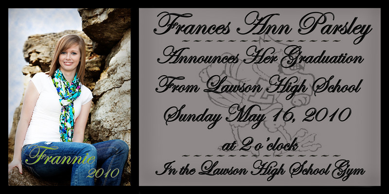 Frannie Graduation announcement