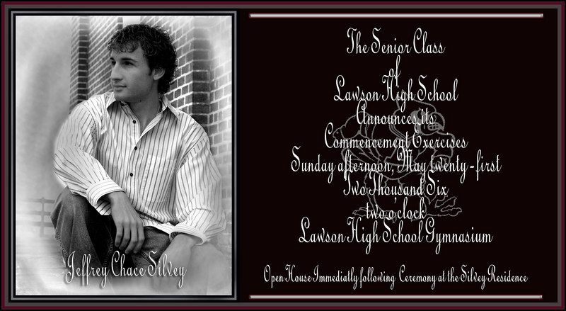 I can make your announcements for graduation or any special event.