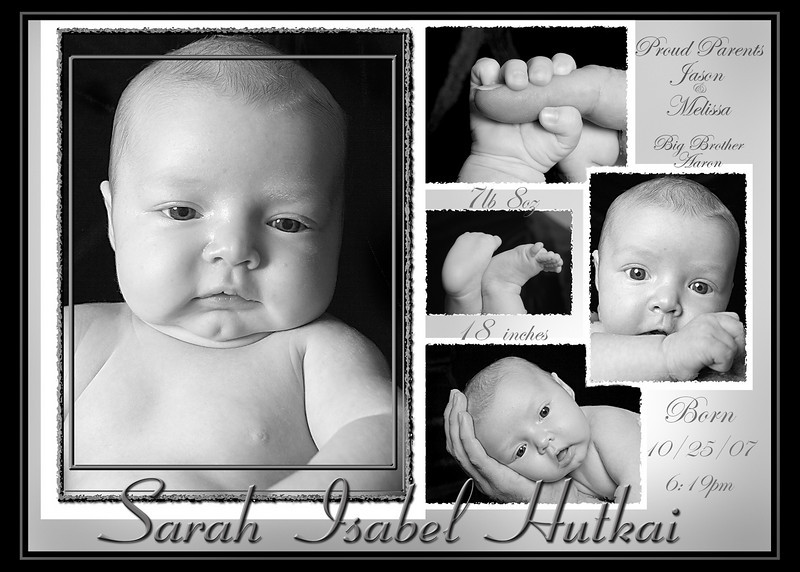 birth announcement 5x7 copy