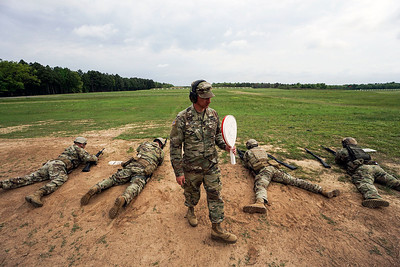 Officials stop the live fire round during the Winston P. WIlson Championship Armed Forces Skill at Arms Meeting at Camp Robinson Thursday, May 3, 2016