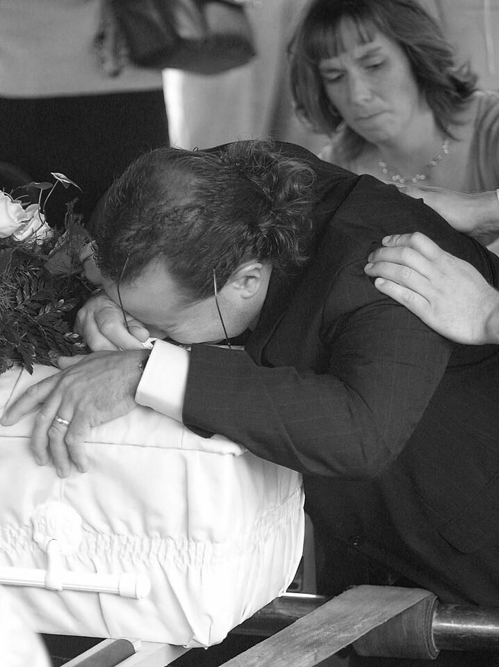 Luke's funeral.