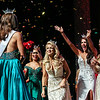 Newly crowned 2017 Miss Arkansas Maggie Benton, left, is celebrated by former Miss America, Miss Arkansas, and Miss Teen Arkansas winners at the end of competition at the Robinson Theater in downtown Little Rock Saturday, June 17, 2017.
