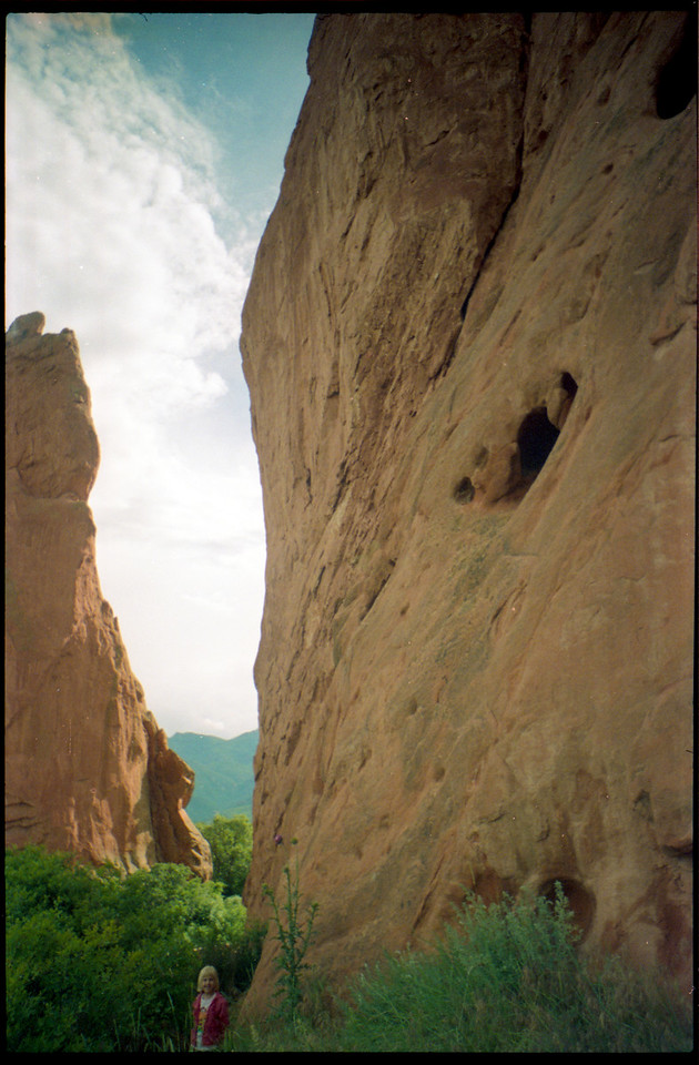 I took this picture of my sister in the Garden of the Gods in Colorado in 1996.