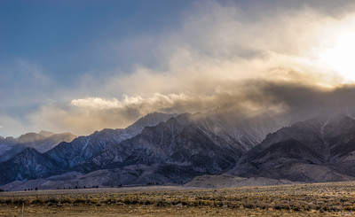 The Eastern Sierra Nevada, south of Bishop, CA