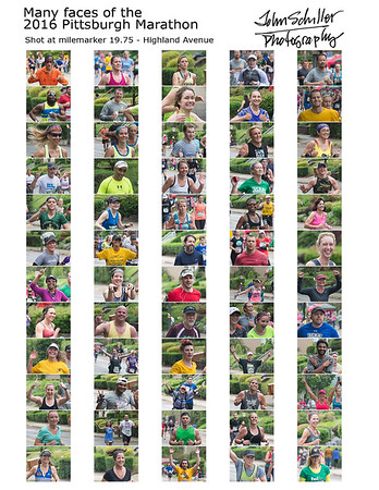 The Many Faces of the 2016 Pittsburgh Marathon