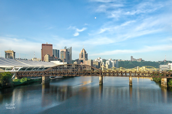 Early Morning Pittsburgh: Three Sisters