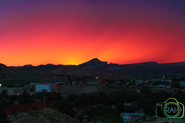 Sunrise over Gallup, NM