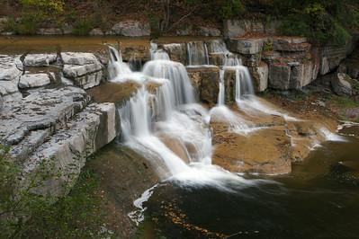 Taughanock Creek at Taughanock Falls State Park, Ulysses, New York.