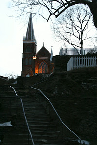 Harper's Ferry, West Virginia. Shale steps to St. Peter's Church.
