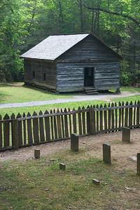 Mountain school house & cemetery.