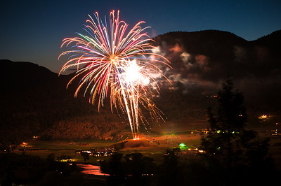 Fireworks over the Rio Grande Club in South Fork, Colorado