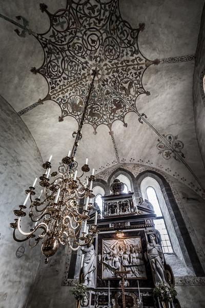Inside medieval church