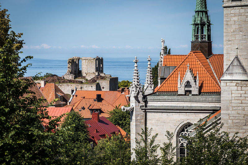 Visby's old town churches