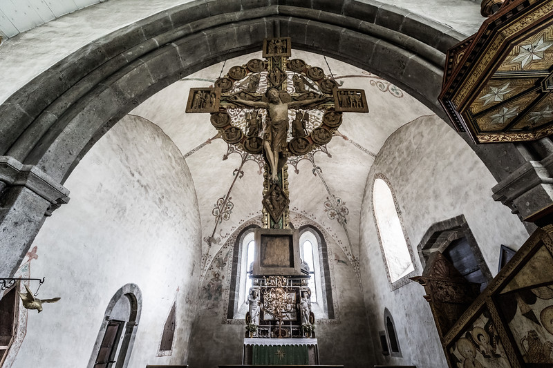 Inside medieval church II