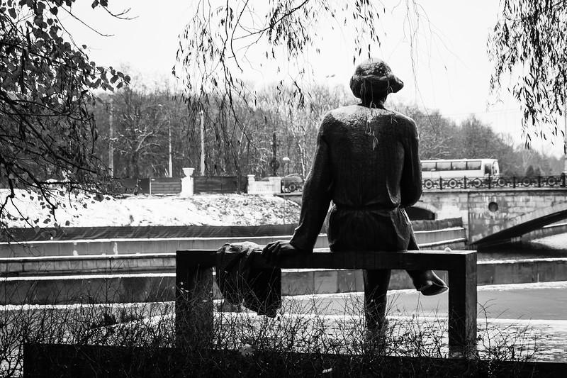 Statue at Gorky park