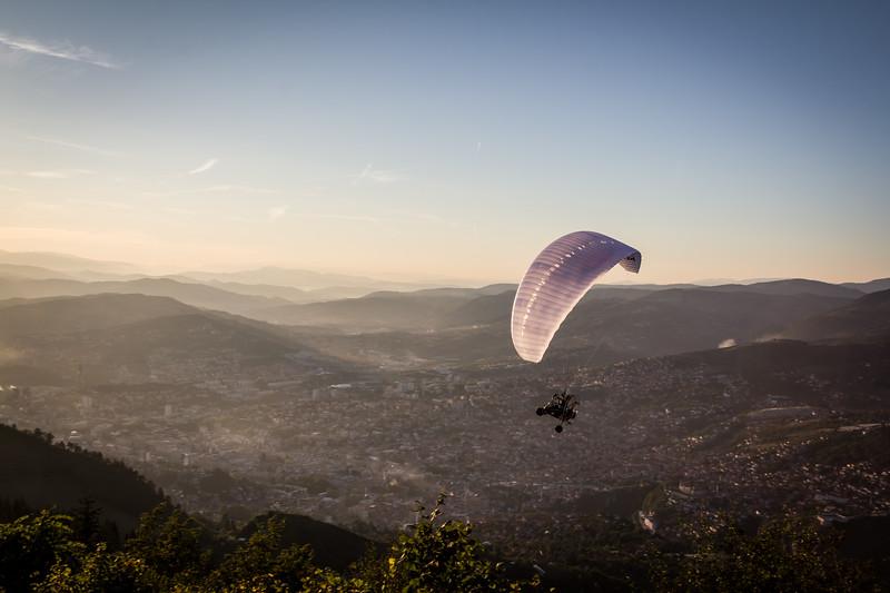 Flying over Sarajevo