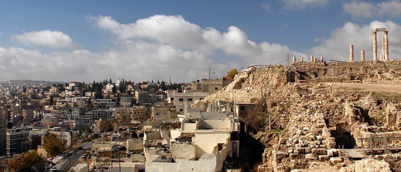 Temple of Hercules at the Citadel, Amman, Jordan. February 2008