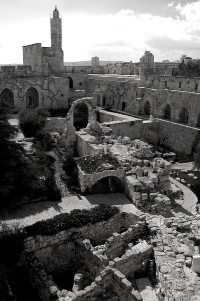 The Citadel (Tower of David), Jerusalem. February 2008