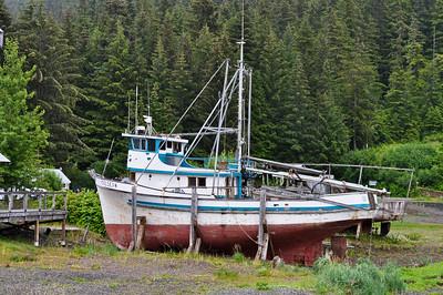 Fishing Boat In Dry Dock