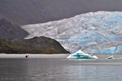 Kayakers on Mendenhall Lake