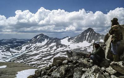 Mt. Hilgard (l) and Mt. Gabb (r)
