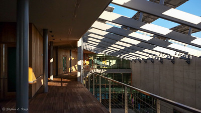 J. Craig Venter Institute - Walkway, Central Courtyard & Solar Panels