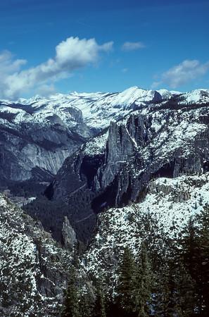 Dewey Point, Yosemite Valley (looking East)