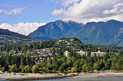 Vancouver with Crown Mountain Backdrop