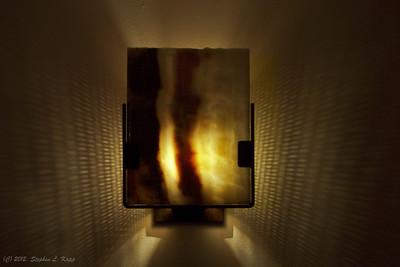 Agate Rock Slice - Wall Sconce Light