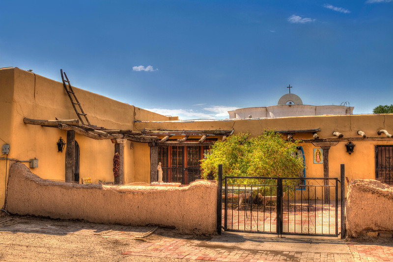 San Elizario Hacienda<br /> Located just behind the San Elizario Chapel on the El Paso Mission Trail, it is believed that this hacienda once served as a stop on the Butterfield-Overland Stage line during the 1850s, Constructed in 1840, the building now serves as a private residence.