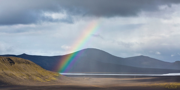 Rainbow near the Crater of Ljótipollur