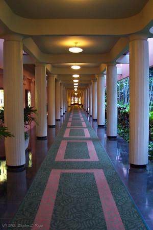 Covered Walkway - Royal Hawaiian Hotel